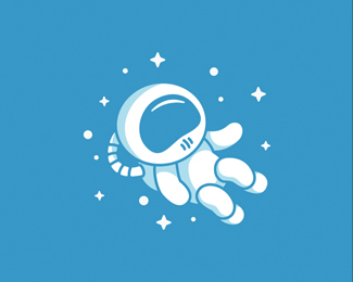 Cartoon Astronaut Logo