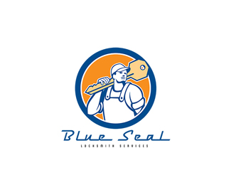 Blue Seal Locksmith Services Logo
