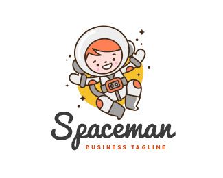 Little Spaceman - Astronaut Logo
