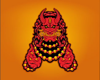 Red Demon Vector Illustration Design