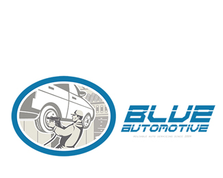 Blue Automotive Logo
