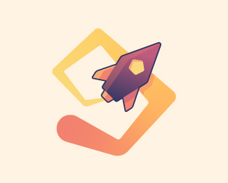 Rocketship logotype
