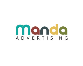 Manda Advertising Logo Design