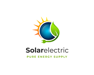 Solar electricty energy supply logo