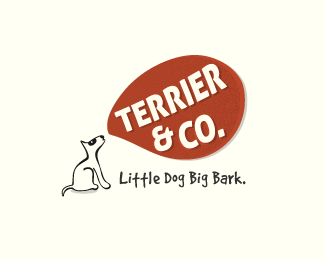terrier and co logo design