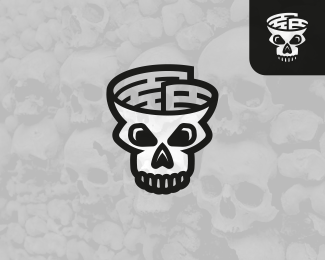 Skull Fake News (Logo for sale)