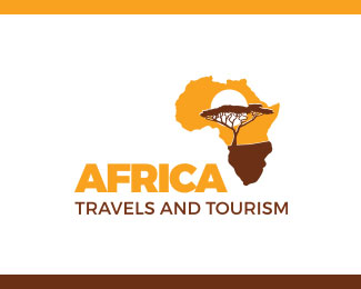 Africa travel and tourism logo vector
