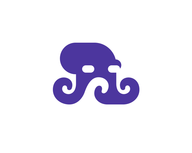 Negative Space Octopus