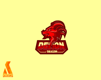 dragon demon esport logo