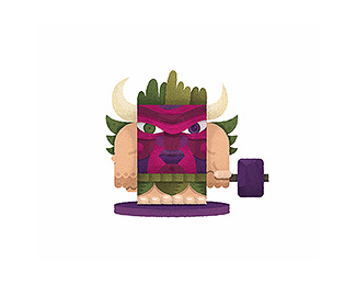 Fireweed Warrior Mascot