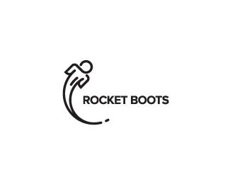 Logo design inspiration 2 - baspixels - Rocket boots