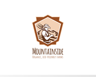 Mountainside Organic Eco-Friendly Farms Logo