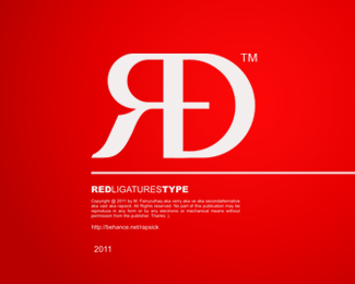 Rapsick | RED ligatures type