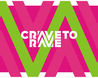 Crave To Rave logo design