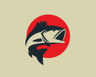 Logopond logo brand identity inspiration hawk symbol for Bass fishing logos
