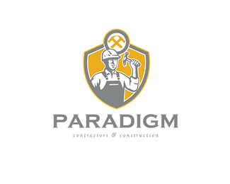 Paradigm Contractors and Construction Logo