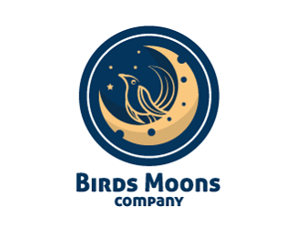 Birds Moons Company Logo