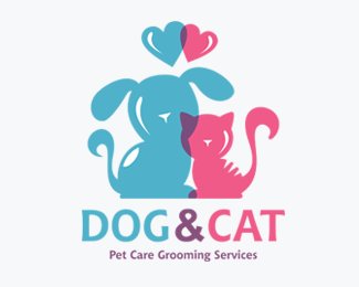 Cat Dog PetVet Care Logos for Sale