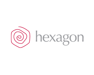 Hexagon - red