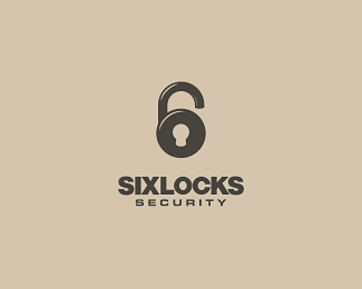 Logo Design SixLocks Security by andreiu - Inspiration Logos - Studio Karma - Graphiste Freelance