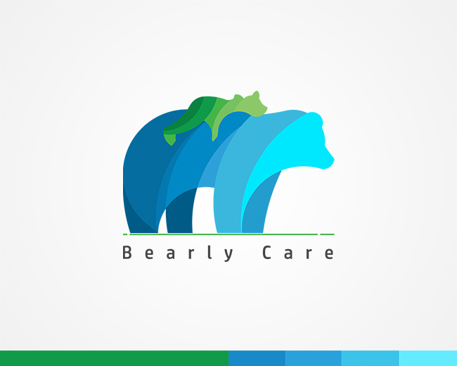 Bearly Care Kindergarten School Logo