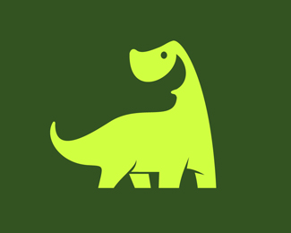 Happy Dinosaur Icon