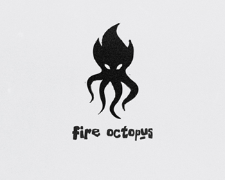 fire octopus logo