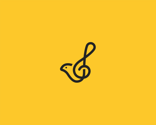 Bird + Treble Clef