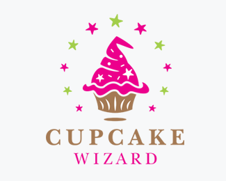 Cupcake Wizard Logos for Sale
