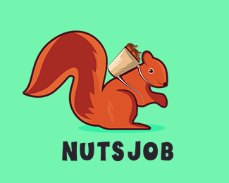 Nuts Job Logo Design