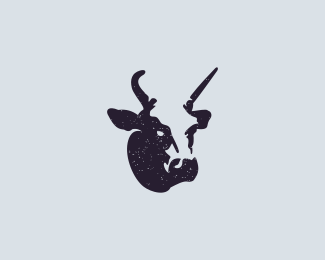 Negative Space Cow