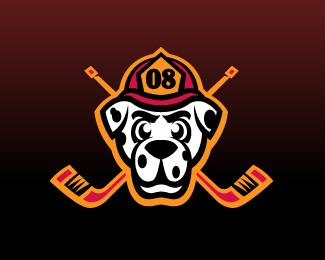 Danville Inferno Jr. Hockey Shoulder Patch