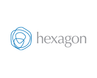 Hexagon - blue