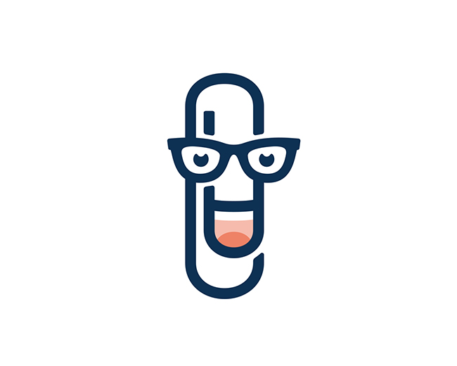 Paperclip Man 📌 Logo for Sale