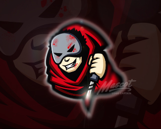 Serial Killer Mascot Logo Design