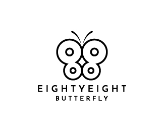 Eighty eight butterfly Logo