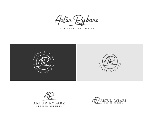 Signature style logo design for Artur Rybarz