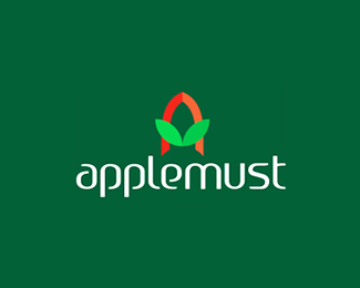 Applemust logo design