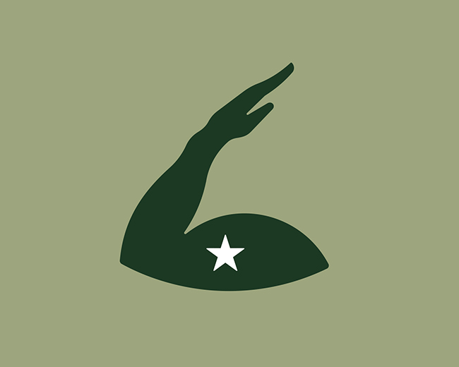 Hand Salute 📌 Logo for Sale