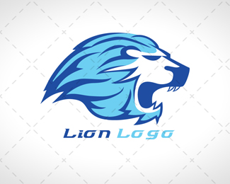 Flame Lion Head Logo For Sale