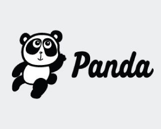 Cute Lovely Panda Mascot Logo Design