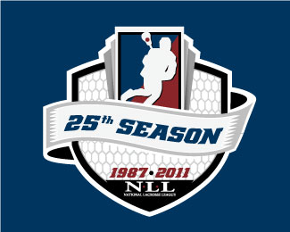 National Lacrosse League 25th Anniversary Logo
