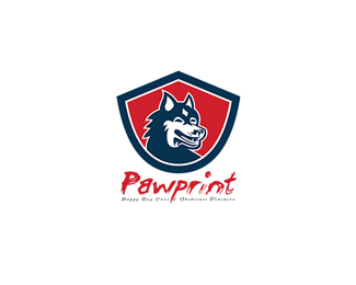 Pawprint Doggy Day Care Logo