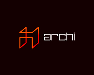 Archi, architecture logo design