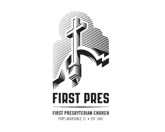 First Pres church logo - black