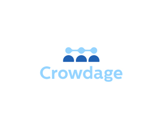 Crowdage Logo Design