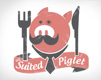 The suited piglet
