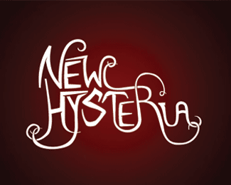 New Hysteria Typography