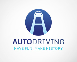 Auto Driving Logo Template