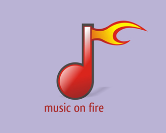music on fire